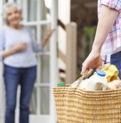 aidant personne âgée courses