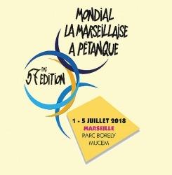 logo Mondial pétanque La Marseillaise 2018